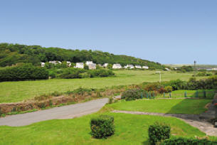 Dale Meadow from Drift Cottage, Self catering accommodation in Dale Pembrokeshire near West Dale and Dale Beaches. Ideal for windsurfing, sailing, diving, birdwatching, walking.